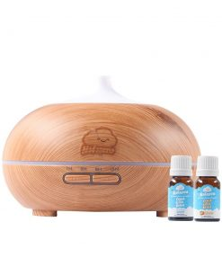 Paket 1 Diffuser 400 ml Wood Motif + 2 Botol Nafasena Essential Oils
