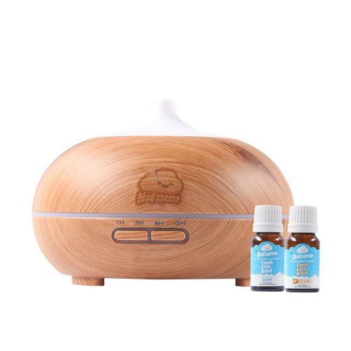 Paket 1 Diffuser 400 ml Wood Motif + 2 Botol Nafasena Essential Oils